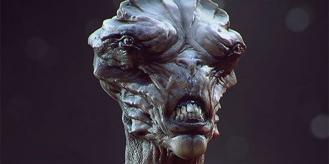 Top alien and creature 3d art by soufiane idrassi zbrushtuts for Createur 3d
