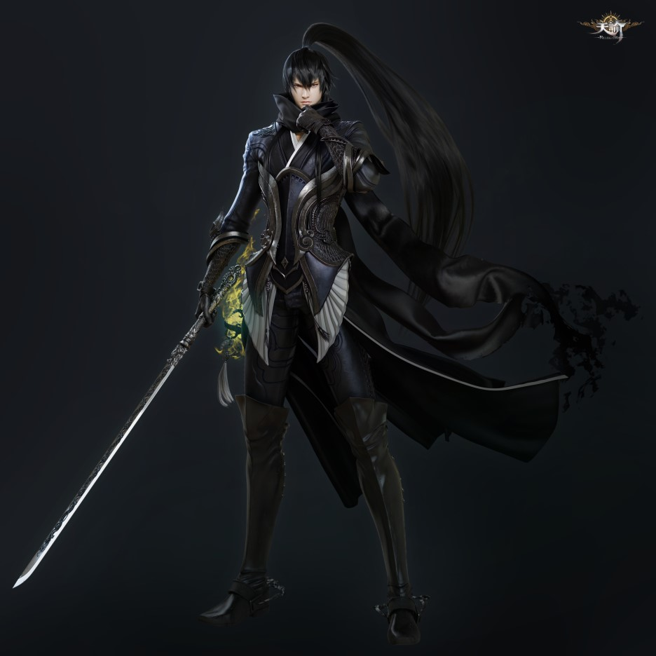 Wip tianyu online mmorpg character 3d art by seungmin for 3d drawing website