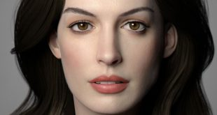 Anne Hathaway 3D Art by Wang Lanye
