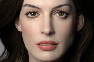 Anne-Hathaway-3D-Art-by-Wang-Lanye
