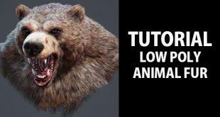 Low poly animal fur tutorial by Nikita Volobuev