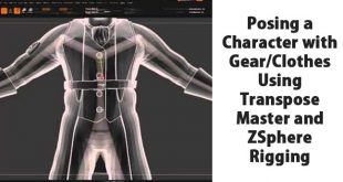 Posing a Character with Gear/Clothes Using Transpose Master and ZSphere Rigging
