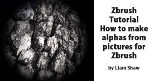 Zbrush Tutorial – How to make alphas from pictures for Zbrush by Liam Shaw