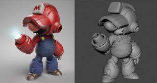 Megamario 3D Art by yago de amorim