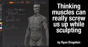 Thinking muscles can really screw us up while sculpting by Ryan Kingslien