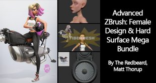 advanced-zbrush-female-design-and-hard-surface-mega-bundle-by-the-redbeard-matt-thorup