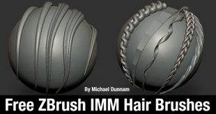 Free ZBrush IMM Hair Brushes By Michael Dunnam