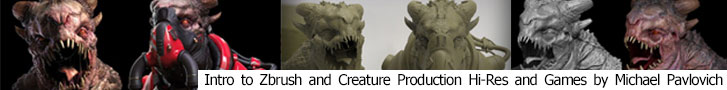 Intro to Zbrush and Creature Production for games