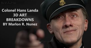 Colonel Hans Landa 3D ART BREAKDOWNS BY Marlon R. Nunez