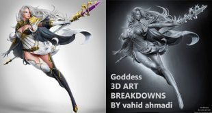 Goddess 3D ART BREAKDOWNS BY vahid ahmadi