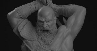 Kratos Statue 1/4 – Fan Art Breakdowns by Micael Oliveira