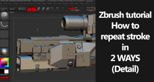 Zbrush tutorial How to repeat stroke in 2 WAYS(Detail)