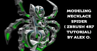 Modeling Necklace Spider – ZBrush 4r7 Tutorial by Alex O.