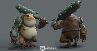 WARRIOR – FROG 3D Art by Marco Antonio Mendoza Parra