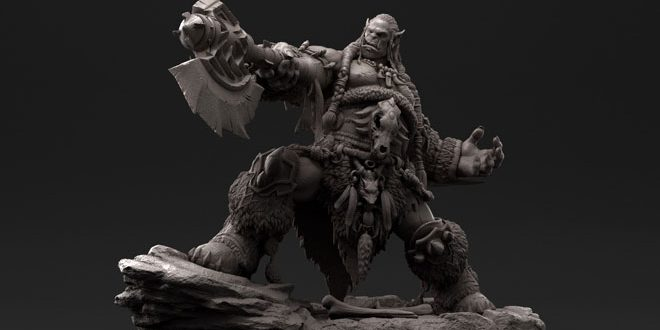 Awesome 3D Art by E LEE - Warcraft Durotan
