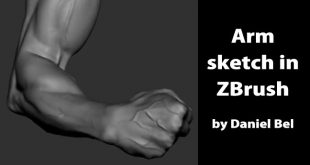Arm sketch in ZBrush by Daniel Bel