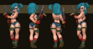 Bulma 3D Art by Mercurial Forge