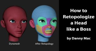 How to Retopologize a Head like a Boss by Danny Mac