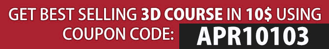 10$ deal on many 3d courses
