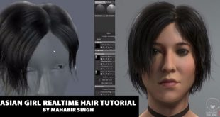 Asian girl realtime hair tutorial by Mahabir Singh
