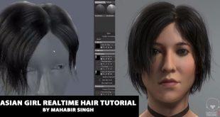 Asian girl realtime hair tutorial by Mahabir Singh