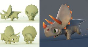 Baby Diano Cute 3D Art by Jonfer Maia