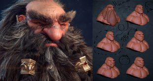 Dwarf 3D Art by Ivan Ozyumov