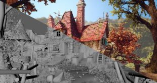 Belle's Cottage 3D Art by Rafael Chies