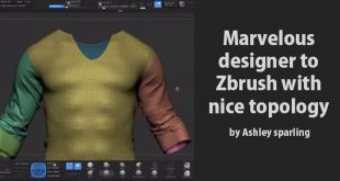 Marvelous designer to Zbrush with nice topology by Ashley sparling