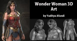 Wonder Woman 3D Art by Yuditya Afandi