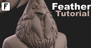ZBrush Feather Tutorial – Follygon