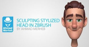 Zbrush Tutorial – Stylized Head Sculpting by Ahmad Merheb