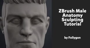ZBrush Male Anatomy Sculpting Tutorial by Follygon