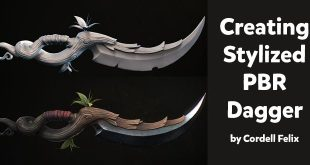 Creating Stylized PBR Dagger by Cordell Felix