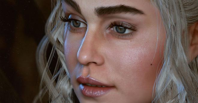 Khaleesi The Throne is mine Realtime fan art Unreal 4 by