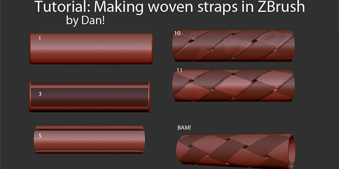 Making Woven Straps in Zbrush by Dan – zbrushtuts