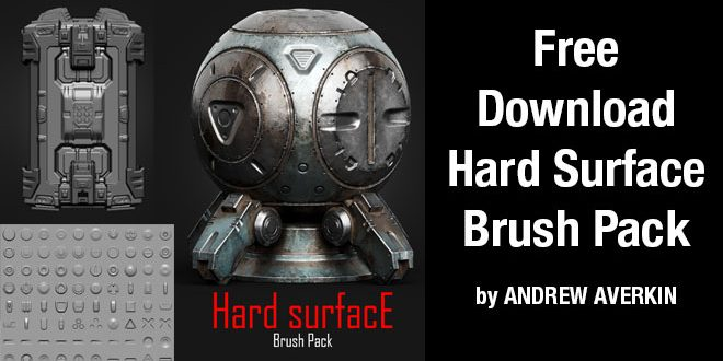 Free Download Hard Surface Brush Pack by ANDREW AVERKIN