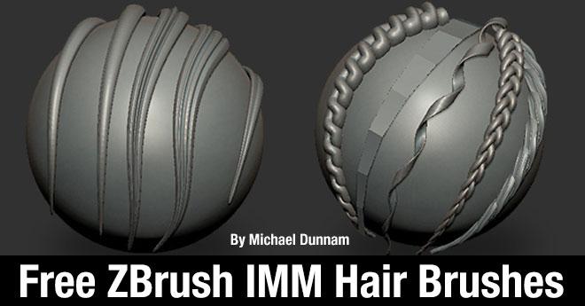 Free ZBrush IMM Hair Brushes By Michael Dunnam – zbrushtuts