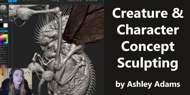 Creature & Character Concept Sculpting by Ashley Adams