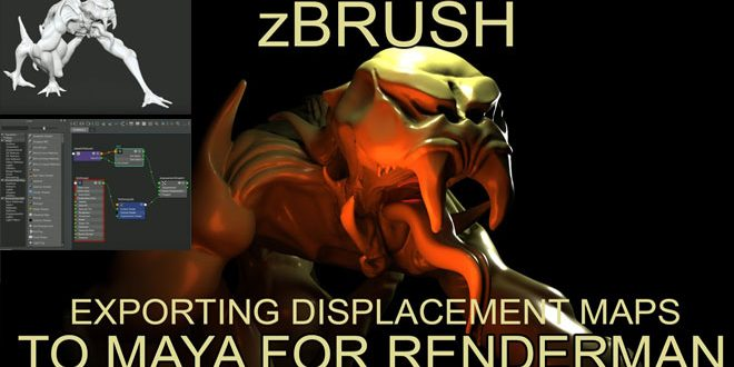 Exporting Displacement maps – Zbrush to Maya for Renderman