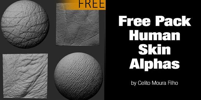 Free Pack Human Skin Alphas by Celito Moura Filho – zbrushtuts