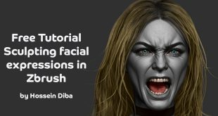 Free Tutorial – Sculpting facial expressions in Zbrush by Hossein Diba