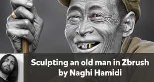 Sculpting an old man in Zbrush by Naghi Hamidi (3d character and 3d environment artist)