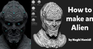 How to make an alien by Naghi Hamidi (3d character and 3d environment artist)